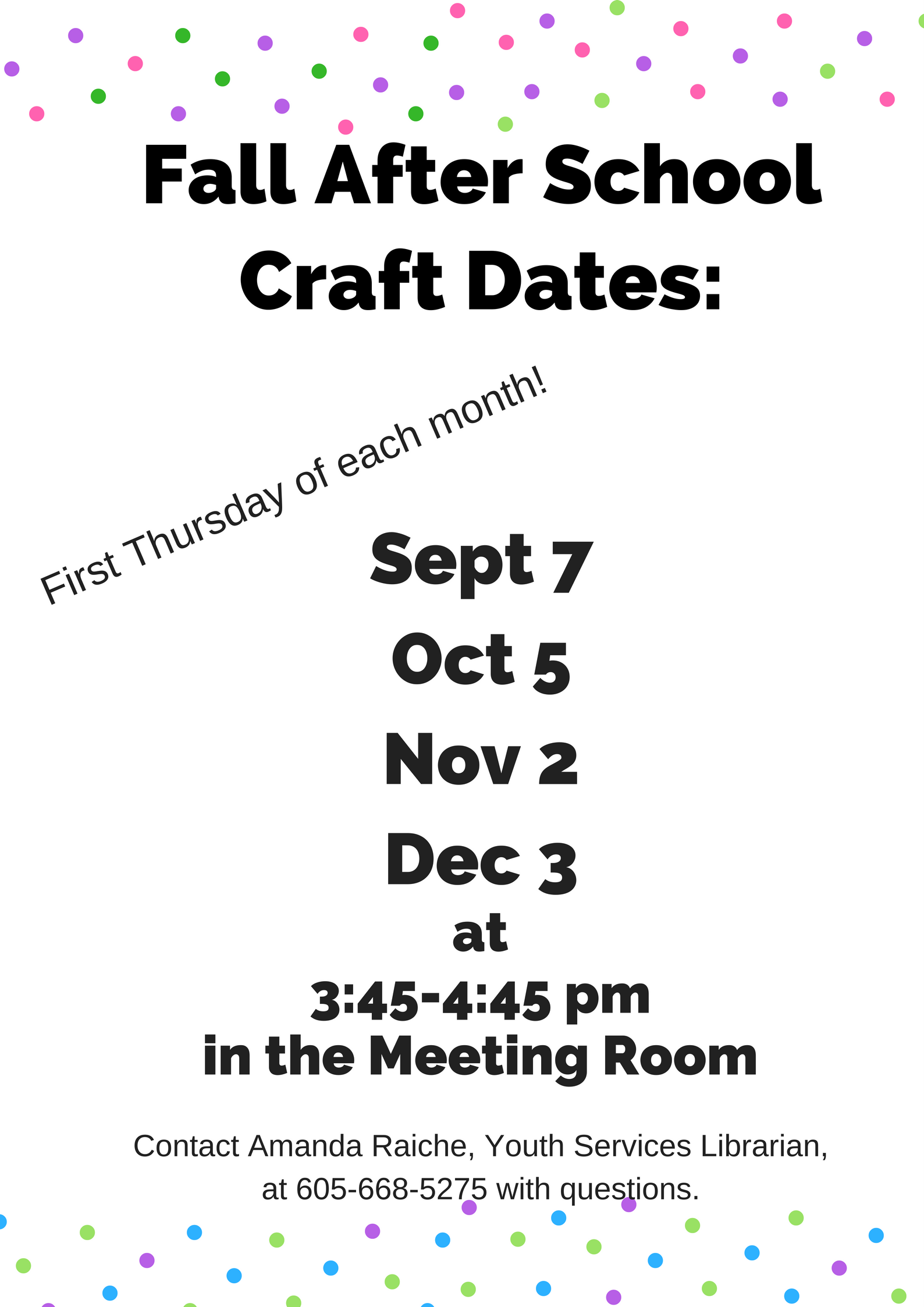 Craft fall dates