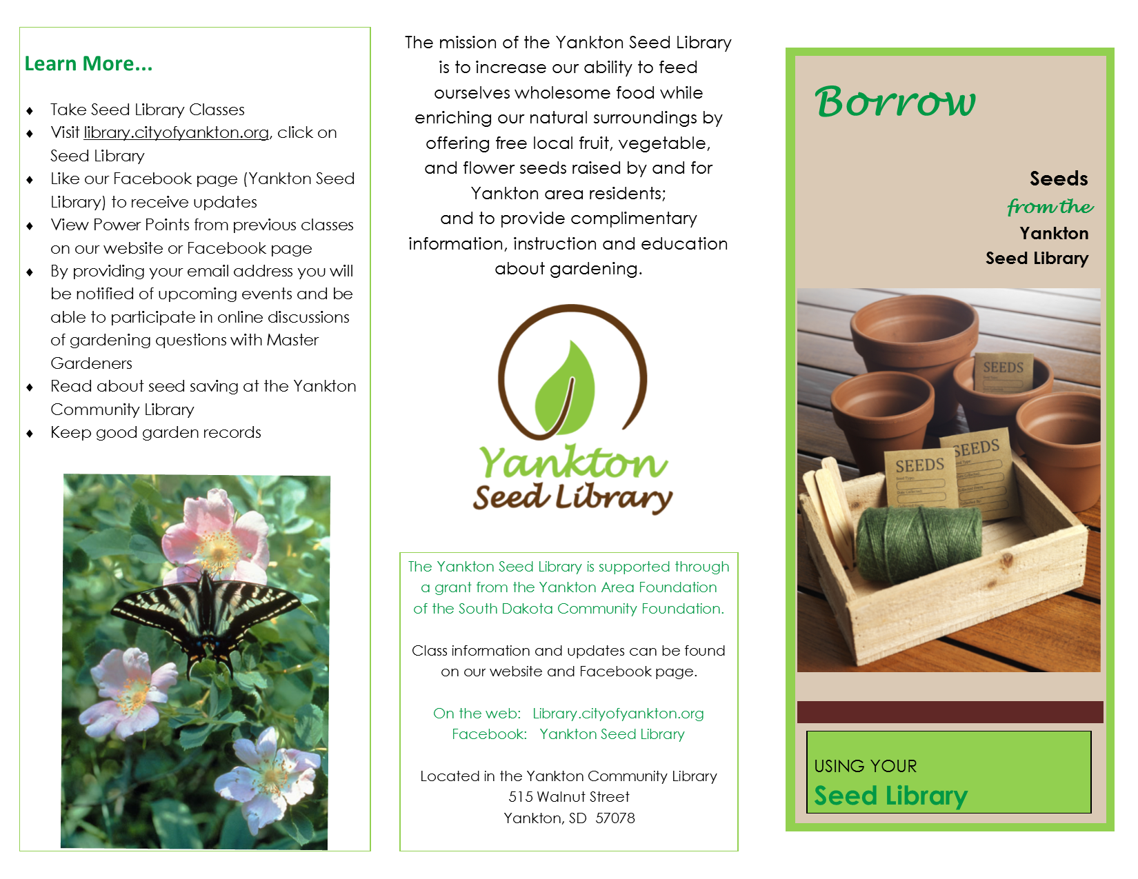 Seed Library Class 1/6:30   Calendar Month View   City of