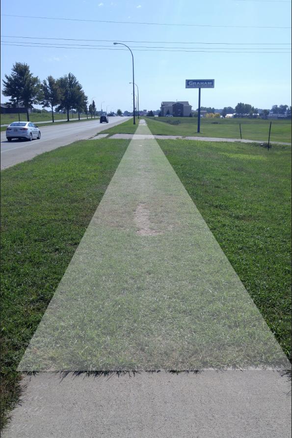 Missing Sidewalk Piece